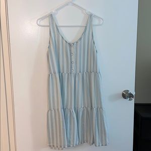 Blue and White Striped Spring/Summer Dress